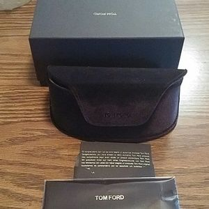 New dark brown tom ford sunglass case